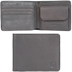 Pure Luxuries London - Grey 'Troon' leather RFID wallet