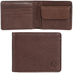 Pure Luxuries London - Mocha 'Troon' leather RFID wallet