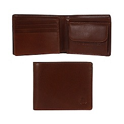 Pure Luxuries London - Italian style tan 'Troon' fine natural leather wallet