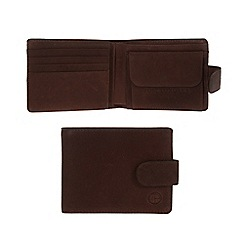 Pure Luxuries London - Brown 'Largs' fine natural leather wallet