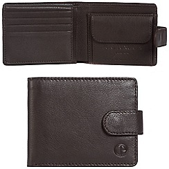 Pure Luxuries London - Dark brown 'Largs' leather RFID wallet