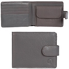 Pure Luxuries London - Grey 'Largs' leather RFID wallet