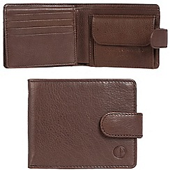 Pure Luxuries London - Mocha brown 'Largs' leather RFID wallet