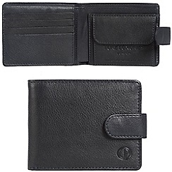 Pure Luxuries London - Oxford blue 'Largs' leather RFID wallet