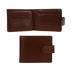 Pure Luxuries London - Italian style tan 'Largs' fine natural leather wallet
