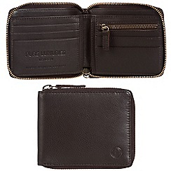 Pure Luxuries London - Dark brown 'Flint' leather RFID wallet