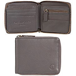 Pure Luxuries London - Grey 'Flint' leather RFID wallet