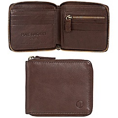 Pure Luxuries London - Mocha brown 'Flint' leather RFID wallet