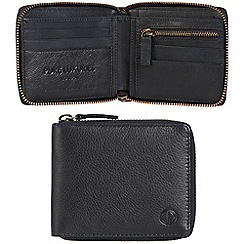Pure Luxuries London - Oxford blue 'Flint' leather RFID wallet