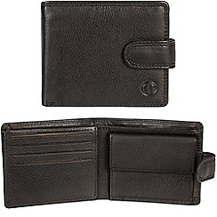 Pure Luxuries London - Black 'Ramsey' leather stud-fastened RFID Wallet  Classic Collection