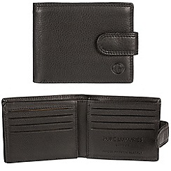 Pure Luxuries London - Black 'Woburn' cowhide stud-fastened RFID wallet  Classic Collection
