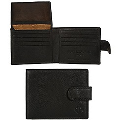 Pure Luxuries London - Black 'Woburn' leather wallet - Deluxe Collection