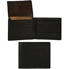 Pure Luxuries London - Black 'Fowey' leather wallet - Deluxe Collection