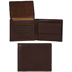 Pure Luxuries London - Brown 'Fowey' leather wallet - Deluxe Collection
