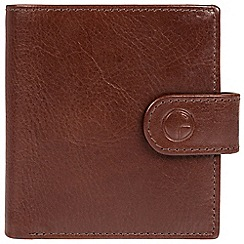 Pure Luxuries London - Brown 'Temple' finest natural leather RFID wallet