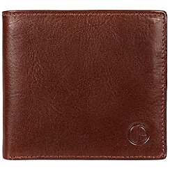 Pure Luxuries London - Brown 'Hurst' vegetable-tanned leather card wallet