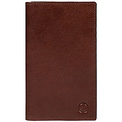Pure Luxuries London - Brown 'Clifton' vegetable-tanned leather wallet