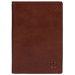 Pure Luxuries London - Brown 'Voyager' vegetable-tanned leather document wallet