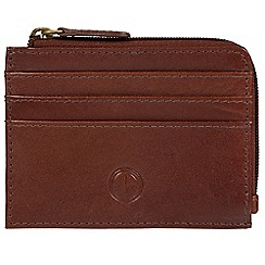 Pure Luxuries London - Brown 'Bramber' vegetable-tanned leather card holder