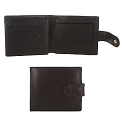 Pure Luxuries London - Black 'Blaine' finest natural leather wallet