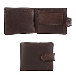 Pure Luxuries London - Dark tan 'Blaine' finest natural leather wallet