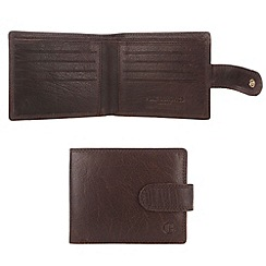 Pure Luxuries London - Dark tan 'Bertrand' finest natural leather wallet