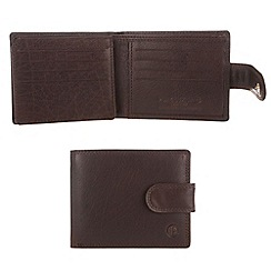 Pure Luxuries London - Dark tan 'Abbot' finest natural leather wallet