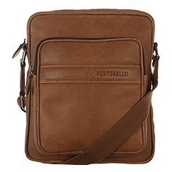 Portobello W11 - Pecan 'Erikkson' rugged leather despatch bag