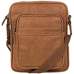 Portobello W11 - Pecan 'Erikkson' buffalo leather despatch bag
