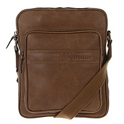 Portobello W11 - Walnut 'Erikkson' rugged leather despatch bag