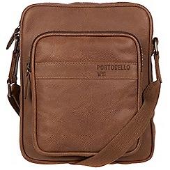Portobello W11 - Walnut 'Erikkson' buffalo leather despatch bag