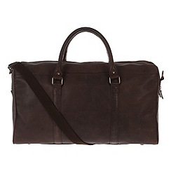 Portobello W11 - Hickory 'Columbus' rugged leather holdall
