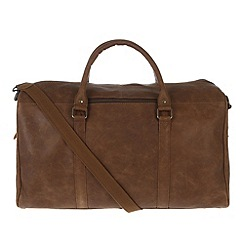 Portobello W11 - Walnut 'Columbus' rugged leather holdall