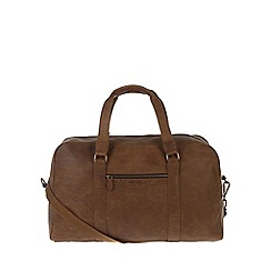 Portobello W11 - Walnut 'Cortez' rugged leather holdall