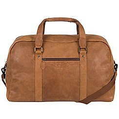 Portobello W11 - Pecan 'Armstrong' buffalo leather holdall