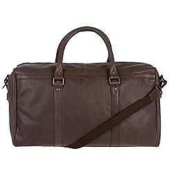 Portobello W11 - Hickory 'Aldrin' buffalo leather holdall