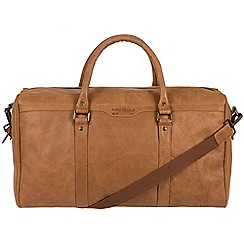 Pure Luxuries London - Pecan 'Aldrin' buffalo leather holdall