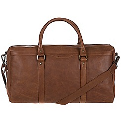 Portobello W11 - Walnut 'Aldrin' buffalo leather holdall