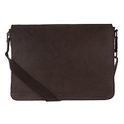 Portobello W11 - Hickory 'Aaron' rugged leather messenger bag