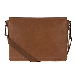 Portobello W11 - Pecan 'Aaron' rugged leather messenger bag