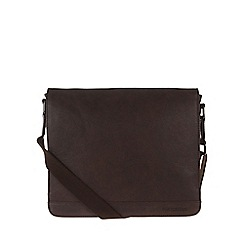 Portobello W11 - Hickory 'Blake' rugged leather small messenger bag