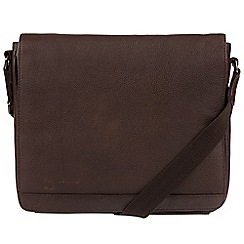 Portobello W11 - Hickory 'Blake' buffalo leather messenger bag