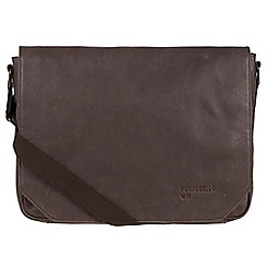 Portobello W11 - Hickory 'Keon' buffalo leather messenger bag