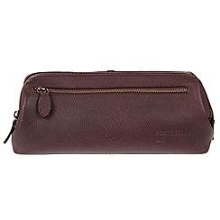 Portobello W11 - Oxblood 'Beck' Buffalo Leather Washbag