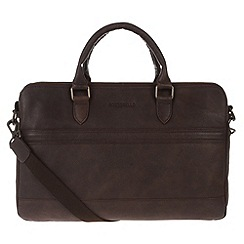 Portobello W11 - Hickory 'Don' rugged leather work bag
