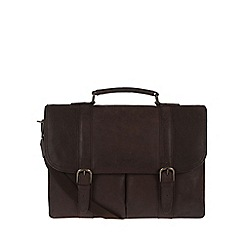 Portobello W11 - Hickory 'Bronson' rugged leather briefcase
