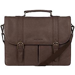 Portobello W11 - Hickory 'Bronson' buffalo leather briefcase