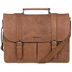 Portobello W11 - Walnut 'Bronson' buffalo leather briefcase