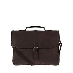 Portobello W11 - Hickory 'Bauer' rugged leather briefcase