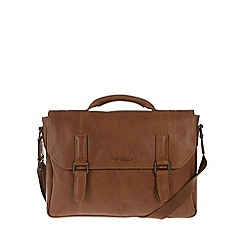 Portobello W11 - Pecan 'Dexter' rugged leather satchel